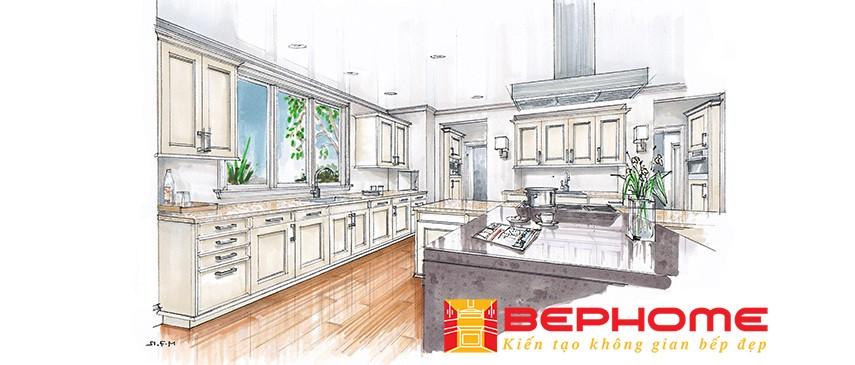 Mẫu thiết kế tủ bếp