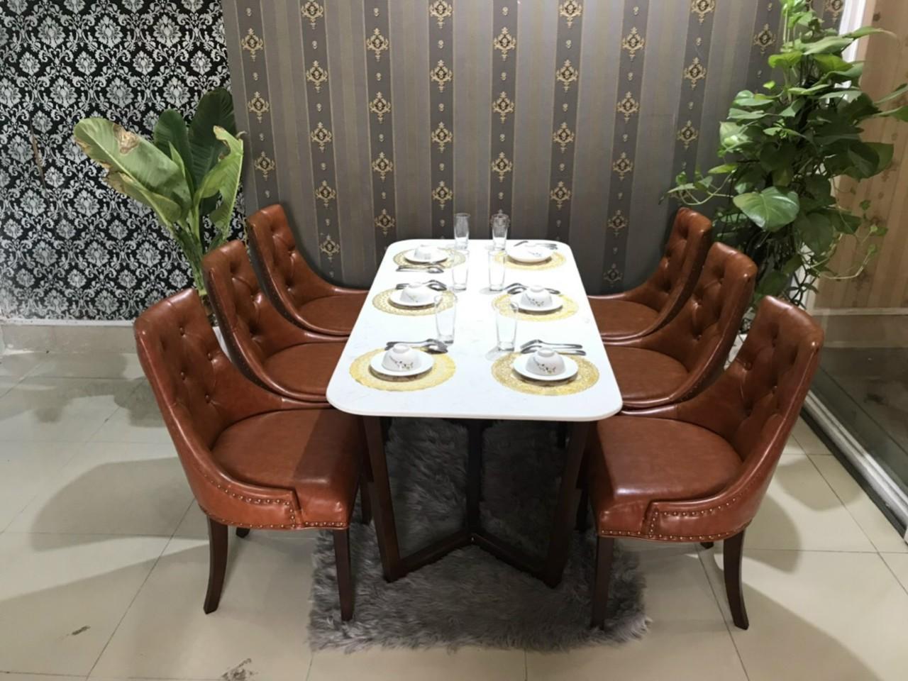 Bộ bàn ăn ghế baker
