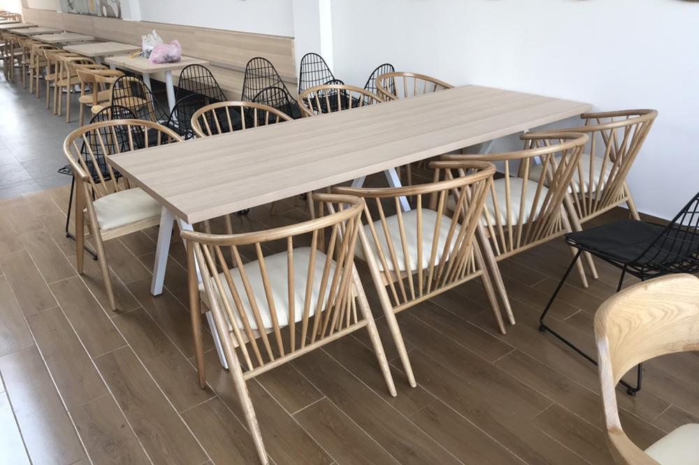 Ghế genny gỗ cao su