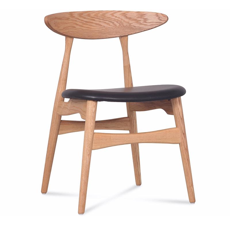 Ghế lunar gỗ cao su