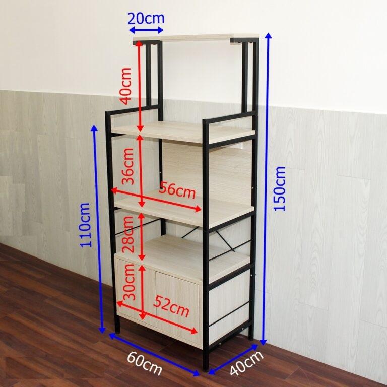 Kích thước kệ 5 tầng