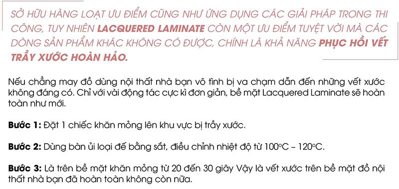 ưu điểm lacquer laminate
